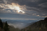 A Broken Morning Sky Viewed From Newfound Gap Road