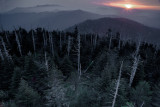A Birds Eye View At Sunrise Above Clingmans Dome