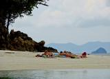 Sunbathers, Poda Island