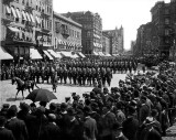 1899 - Police parade up Broadway