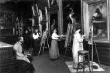1900 - Copyists in the Metropolitan Museum of Art