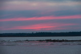 Pink clouds over an ice free river 2012 November 19th before dawn.