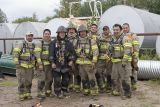 Moose Factory firefighters with instructor