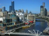 Melbourne view from Hilton south wharf