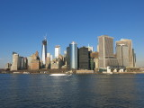 New York City view from Staten Island ferry