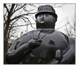 Botero sculpture detail