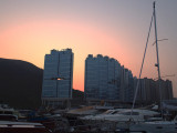 Sunset in the Typhoon Shelter