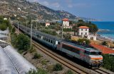 The BB22352 took this train coming from Milano at Ventimiglia. Near Menton.