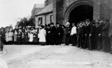 1908 July 11th - Waiting on the arrival of General Booth's visit to Burton on Trent Workhouse