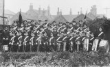 1932 - Burton Citadel Band (Bandmaster Charlie Teat) outside Brook Street