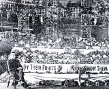 1924 September 25th - Ensign & Mrs Latter with the Harvest Festival display