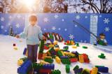 Legos on the snow