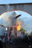 2013_03_31 Burning Judas in Effigy at Plaza de Cayma on Easter Morning