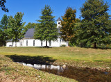 A vew of the church from Choates Creek for which it is named.