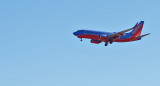 Southwest airliner on final approach