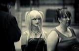Blondie in line.