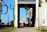 Elkhart, KS grain elevators.