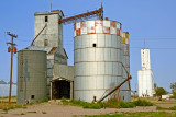 Sheridan Lake, CO grain elevators.