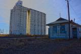 Horace, KS grain elevator & depot.