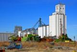 Wheeler, KS grain elevators.