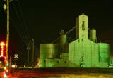 Strasburg, CO grain elevator-night shot.