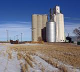 Edson, Kansas concrete grain elevator.