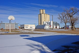 Levant, Kansas concrete grain elevator.