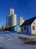 Oberlin, Kansas grain elevators.