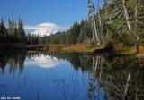 Hugo Lake and Mt Rainier