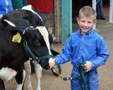 Boy and his calf