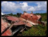 wreckage of a WWII Japanese Zero Fighter