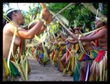 traditional Yapese bamboo stick dances