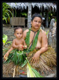 Yapese woman and her baby