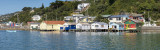 7 March 2013 - 3 shot pano of the Boat Sheds at Evans Bay