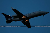 Learjet 60 N814GF arriving after sunset corporate aviation aircraft stock photo #2455