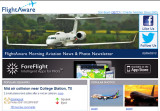 2013 - American B777 landing photo (bottom right) on FlightAware's Morning Aviation Newsletter
