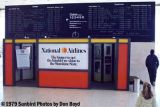 1979 - National Airlines flight information display system at JFK with the Pan Am takeover coming