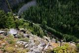 Westbound at The Gap, west of Merritt, Stevens Pass, WA.
