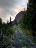 Mount Baker two track, HDR image