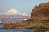Mount Hood, early morning in the Columbia Gorge.