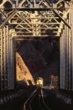 Last light through bridge in Afton Canyon. March 2006