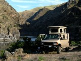 Camping at Dug Bar, Hells Canyon.