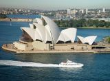 Opera House from the southeast pylon of the Sydney Harbour Bridge