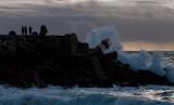 O Molhe da Nazaré em 23 de março de 2013