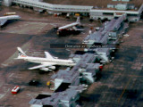 1964 - aerial view of Concourse 1 (now H) at Miami International Airport
