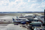 1970 to 1973 - view of Concourse 4 (now E) from the airport hotel.