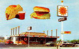 Del Taco fast food restaurants in the early years