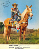 Roy Rogers and Trigger, the smartest horse in the movies