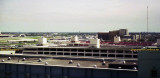 1975 - a view from the FAA Control Tower of the hotel, parking garages and the National maintenance base