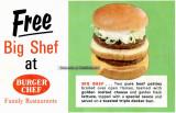 Burger Chef restaurants featuring the Big Shef